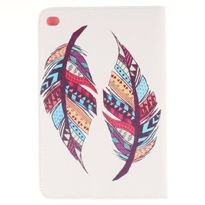 Standy pouzdro na tablet iPad mini 4 - barevná peříčka - 2