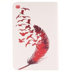 Standy pouzdro na tablet iPad mini 4 - ptačí peříčko - 2