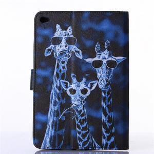 Knížkové pouzdro na tablet iPad mini 4 - žirafy - 2