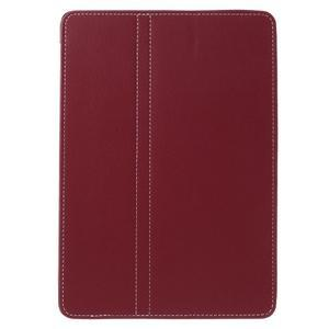 Clothy PU textilní pouzdro na iPad Pro 9.7 - červené - 2