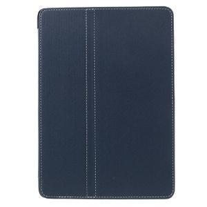Clothy PU textilní pouzdro na iPad Pro 9.7 - tmavěmodré - 2
