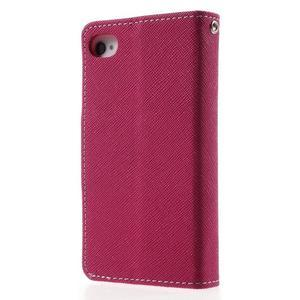 Fancys PU kožené pouzdro na iPhone 4 - rose - 2