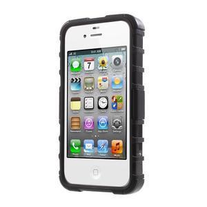 Outdoor odolný obal na mobil iPhone 4 - černý - 2
