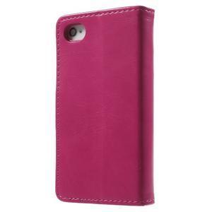 Moon PU kožené pouzdro na mobil iPhone 4 - rose - 2