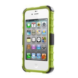 Outdoor odolný obal na mobil iPhone 4 - zelený - 2
