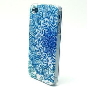 Emotive gelový obal na mobil iPhone 4 - modrá mandala - 2