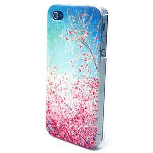 Emotive gelový obal na mobil iPhone 4 - kvetoucí větvičky - 2