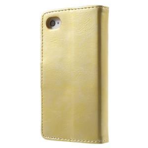 Moon PU kožené pouzdro na mobil iPhone 4 - zlaté - 2