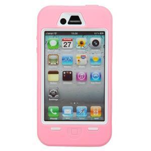 Armor vysoce odolný obal na iPhone 4 - růžový - 2