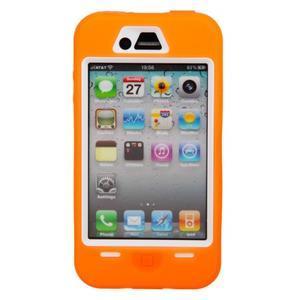 Armor vysoce odolný obal na iPhone 4 - oranžový - 2