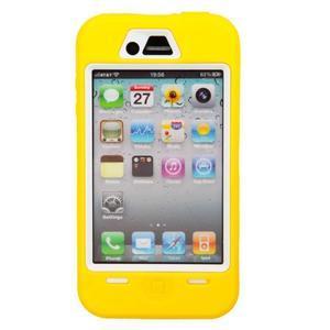 Armor vysoce odolný obal na iPhone 4 - žlutý - 2