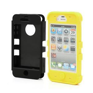 Extreme odolný kryt 3v1 na mobil iPhone 4 - žlutý - 2