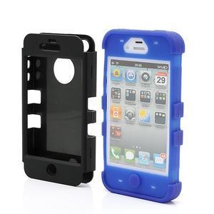 Extreme odolný kryt 3v1 na mobil iPhone 4 - modrý - 2