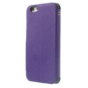 Peněženkové pouzdro s okýnkem na iPhone 6 a 6s - fialové - 2