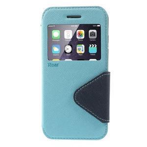 Peněženkové pouzdro s okýnkem na iPhone 6 a 6s - světle modré - 2