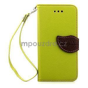 PU kožené peněženkové pouzdro pro iPhone 6s a 6 - zelené - 2