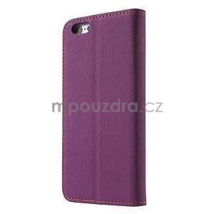 Klopové pouzdro na iPhone 6 a iPhone 6s - fialové - 2