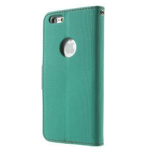 Peněženkové koženkové pouzdro na iPhone 6s a 6 - zelené - 2