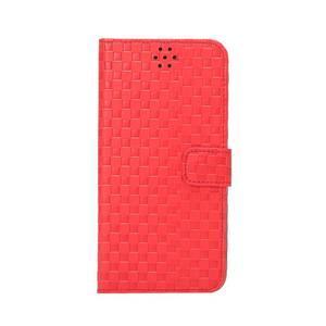 Mřížkované koženkové pouzdro na iPhone 6 a iPhone 6s - červené - 2