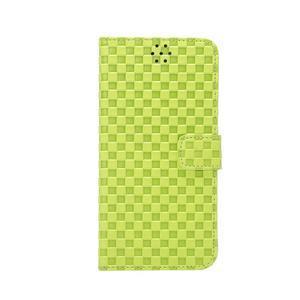 Mřížkované koženkové pouzdro na iPhone 6 a iPhone 6s - zelené - 2