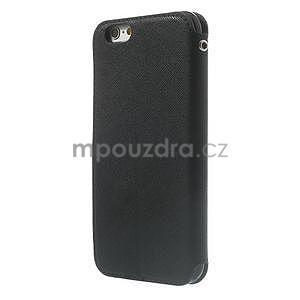 Peněženkové pouzdro s okýnkem na iPhone 6 a 6s - černé - 2