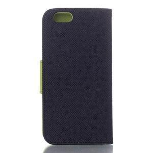 Dvoubarevné peněženkové pouzdro pro iPhone 6 a iPhone 6s - černé/zelené - 2