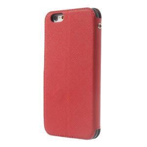 Peněženkové pouzdro s okýnkem na iPhone 6 a 6s - červené - 2