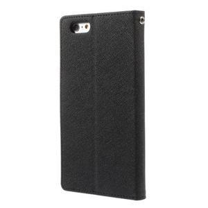 Peněženkové pouzdro pro iPhone 6 Plus a 6s Plus - černé - 2