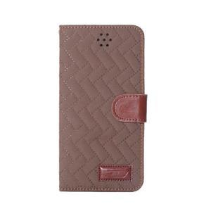 Elegantní peněženkové pouzdra pro iPhone 6 Plus a 6s Plus - hnědé - 2