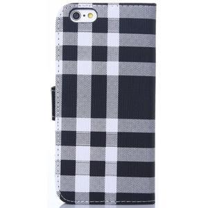 Peněženkové pouzdro Fancy na iPhone 6 Plus a 6s Plus - černobílé - 2