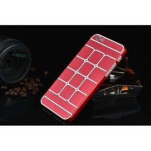 Stylový kryt s kovovými zády pro iPhone 6 Plus a 6s Plus - červený - 2