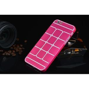 Stylový kryt s kovovými zády pro iPhone 6 Plus a 6s Plus - rose - 2