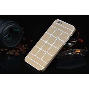 Stylový kryt s kovovými zády pro iPhone 6 Plus a 6s Plus - champagne - 2
