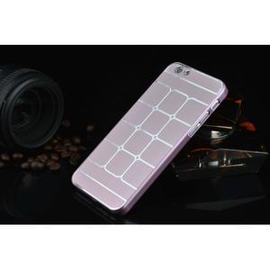 Stylový kryt s kovovými zády pro iPhone 6 Plus a 6s Plus - růžový - 2