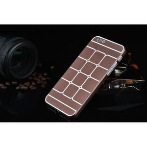 Stylový kryt s kovovými zády pro iPhone 6 Plus a 6s Plus - hnědý - 2