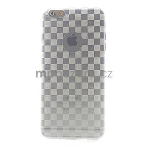 Transparentní kostkovaný gelový obal na iPhone 6 Plus a 6s Plus - 2