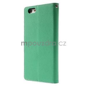 Peněženkové pouzdro pro iPhone 6 Plus a 6s Plus - azurové - 2