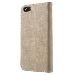 Cloth PU kožené pouzdro na iPhone SE / 5s / 5 - zlaté - 2