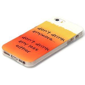 Gelový obal na mobil iPhone SE / 5s / 5 - drink - 2