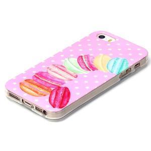 Gelový obal na mobil iPhone SE / 5s / 5 - makrónky - 2