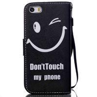 Peněženkové pouzdro na mobil iPhone SE / 5s / 5 - nedotýkat se - 2/7
