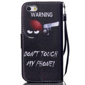 Peněženkové pouzdro na mobil iPhone SE / 5s / 5 - nešahat - 2
