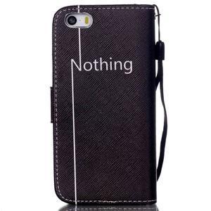 Peněženkové pouzdro na mobil iPhone SE / 5s / 5 - nothing - 2