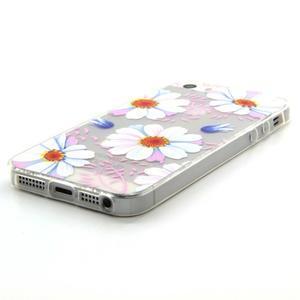 Transparentní gelový obal na mobil iPhone SE / 5s / 5 - květinky - 2