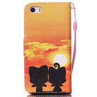 Peněženkové pouzdro na mobil iPhone SE / 5s / 5 - zapadající slunce - 2/7