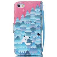Peněženkové pouzdro na mobil iPhone SE / 5s / 5 - sněžný muž - 2/7