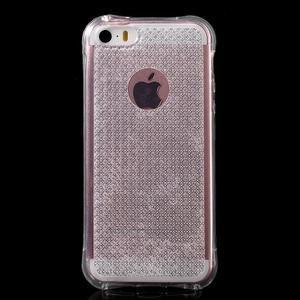 Diamonds gelový obal se silným obvodem na iPhone SE / 5s / 5 - transparentní - 2