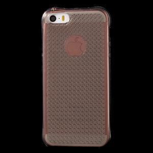 Diamonds gelový obal se silným obvodem na iPhone SE / 5s / 5 - šedý - 2