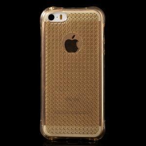 Diamonds gelový obal se silným obvodem na iPhone SE / 5s / 5 - zlatý - 2