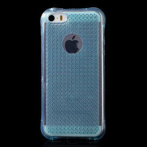 Diamonds gelový obal se silným obvodem na iPhone SE / 5s / 5 - modrý - 2
